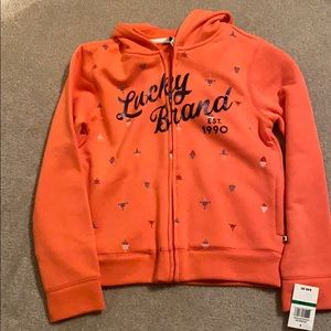 NWT LUCKY BRAND Zippered Hoodie Girl's L